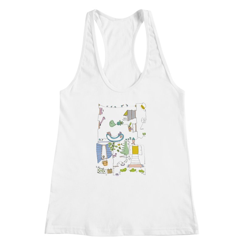 Some doodles in the city by Elena Losada Women's Racerback Tank by ElenaLosada Artist Shop