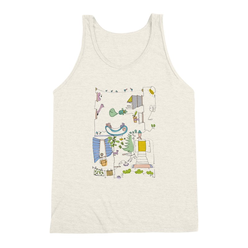 Some doodles in the city by Elena Losada Men's Triblend Tank by ElenaLosada Artist Shop