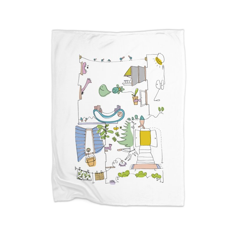 Some doodles in the city by Elena Losada Home Blanket by ElenaLosada Artist Shop