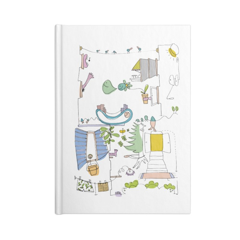 Some doodles in the city by Elena Losada Accessories Notebook by elenalosadaShop's Artist Shop