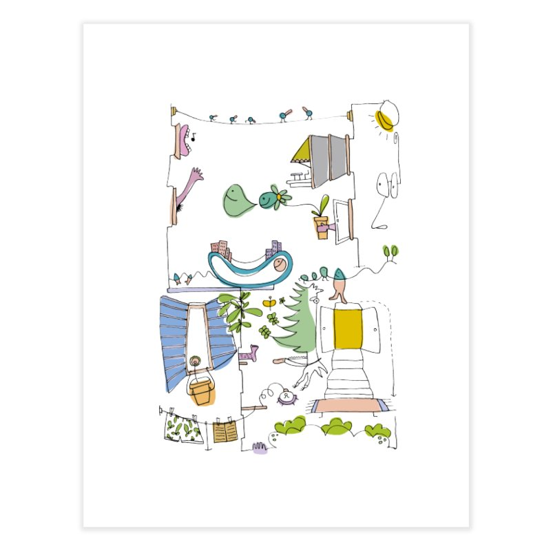Some doodles in the city by Elena Losada Home Fine Art Print by elenalosadaShop's Artist Shop