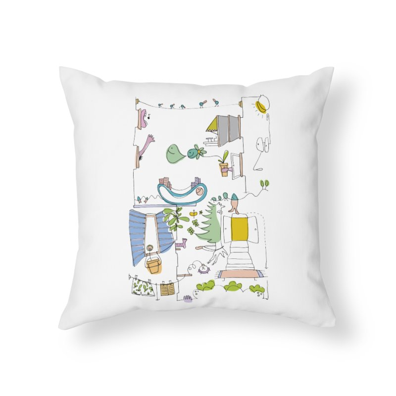 Some doodles in the city by Elena Losada Home Throw Pillow by elenalosadaShop's Artist Shop