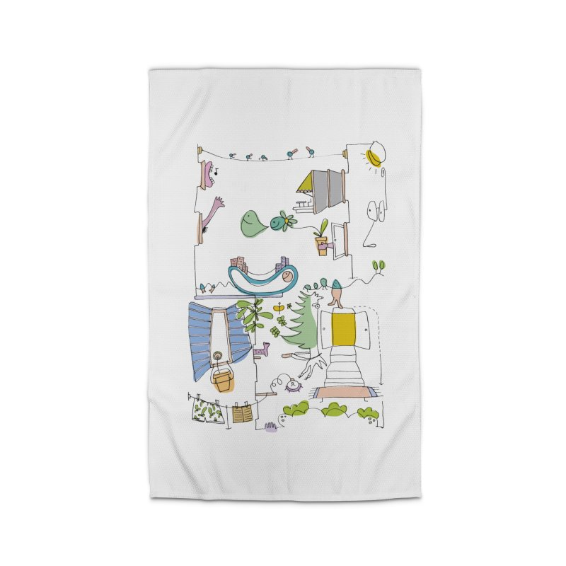 Some doodles in the city by Elena Losada Home Rug by elenalosadaShop's Artist Shop