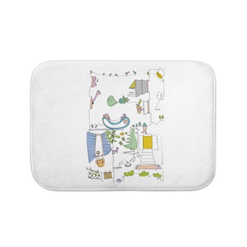 Some doodles in the city by Elena Losada Home Bath Mat by ElenaLosada Artist Shop