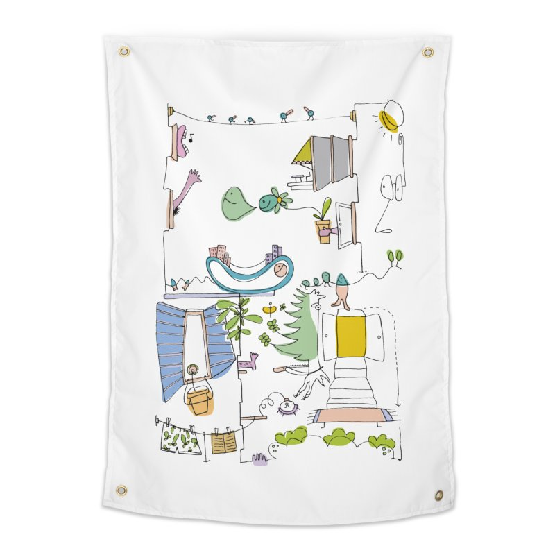Some doodles in the city by Elena Losada Home Tapestry by ElenaLosada Artist Shop