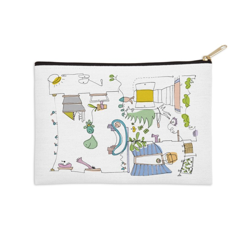 Some doodles in the city by Elena Losada Accessories Zip Pouch by ElenaLosada Artist Shop