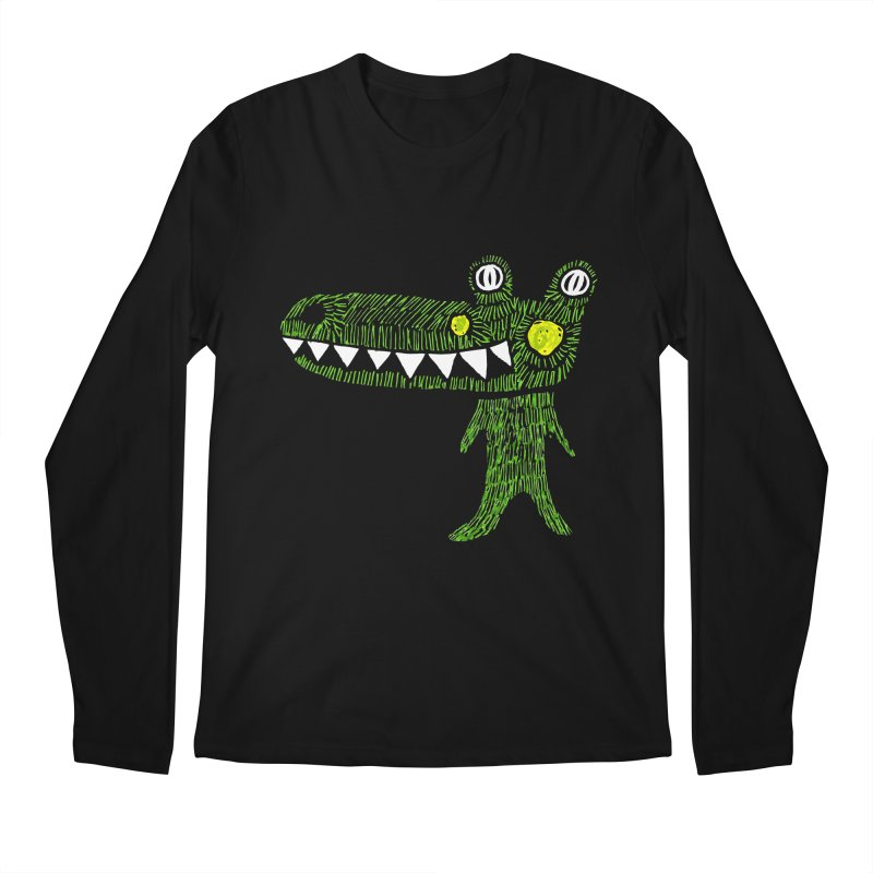 Coco Drilo by Elena Losada Men's Longsleeve T-Shirt by ElenaLosada Artist Shop