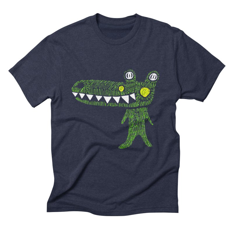 Coco Drilo by Elena Losada Men's Triblend T-shirt by elenalosadaShop's Artist Shop