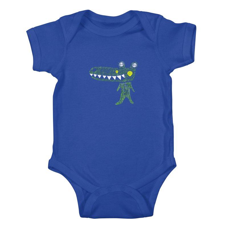 Coco Drilo by Elena Losada Kids Baby Bodysuit by elenalosadaShop's Artist Shop