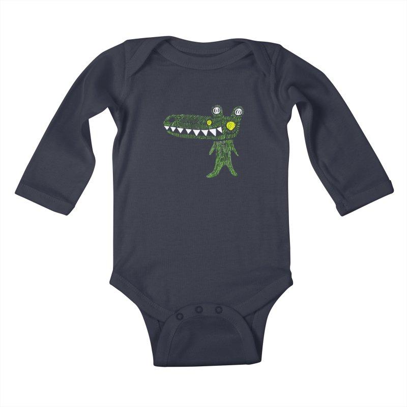 Coco Drilo by Elena Losada Kids Baby Longsleeve Bodysuit by elenalosadaShop's Artist Shop