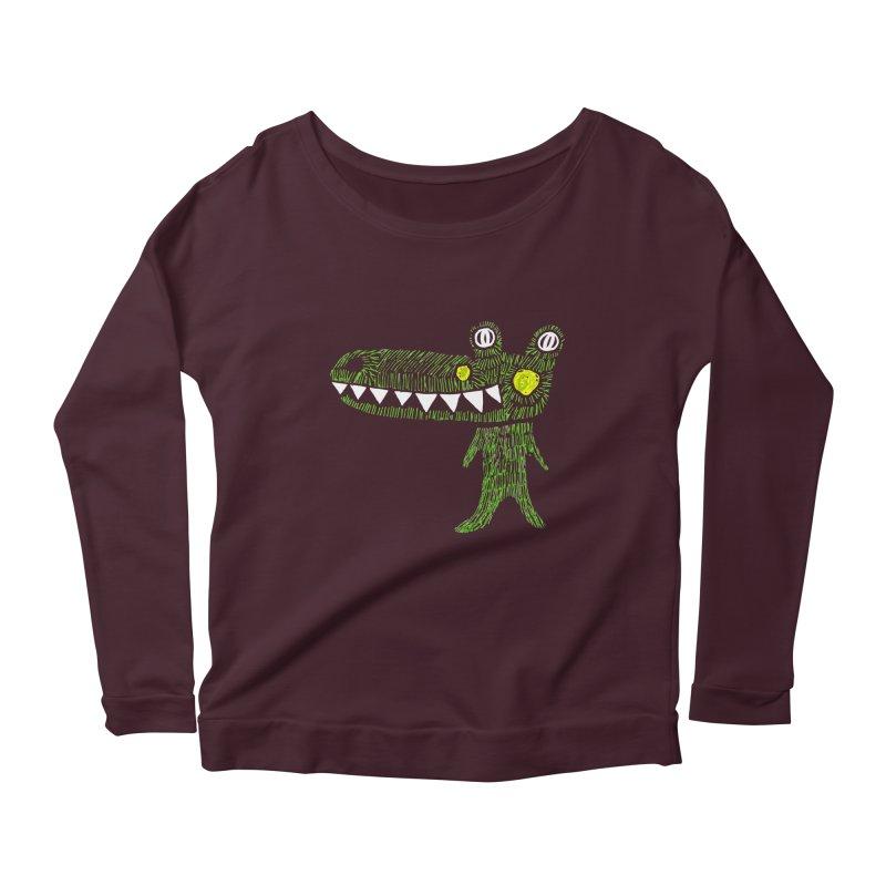 Coco Drilo by Elena Losada Women's Scoop Neck Longsleeve T-Shirt by ElenaLosada Artist Shop