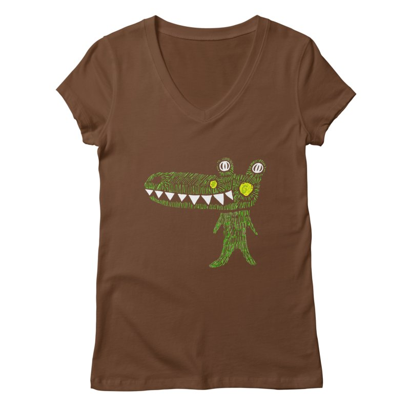 Coco Drilo by Elena Losada Women's V-Neck by elenalosadaShop's Artist Shop