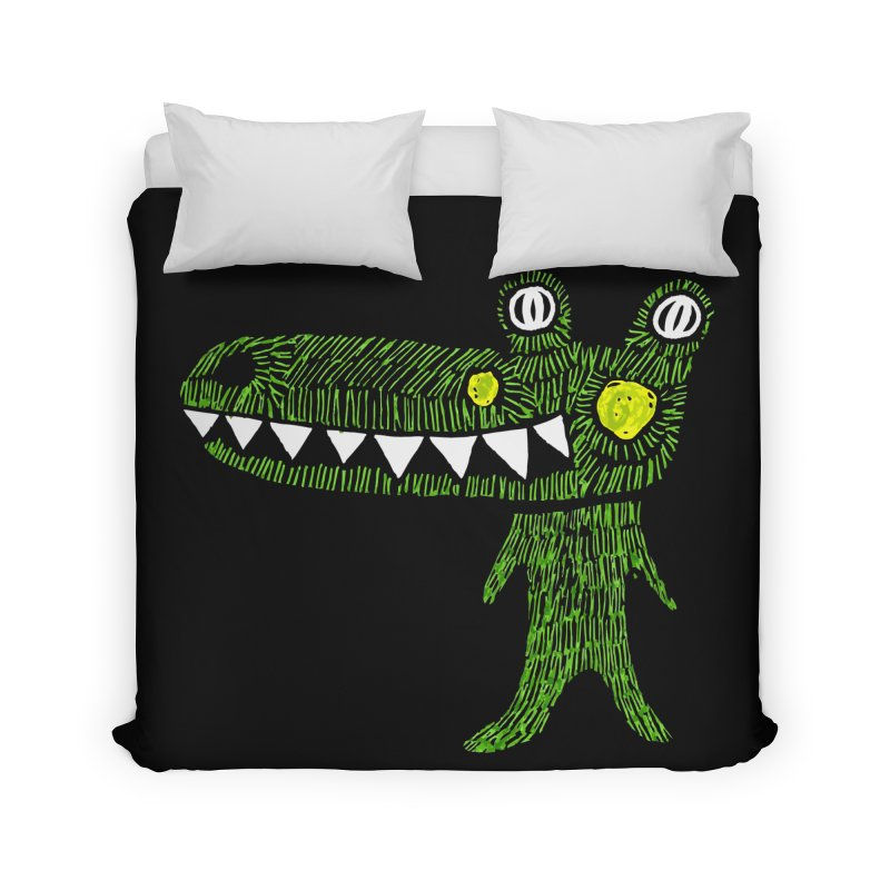 Coco Drilo by Elena Losada Home Duvet by elenalosadaShop's Artist Shop