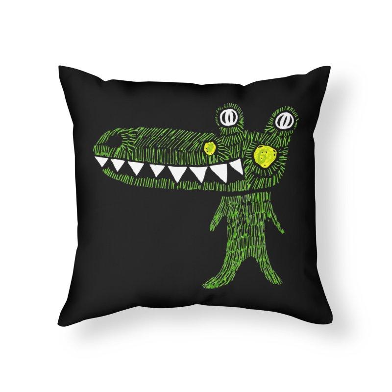 Coco Drilo by Elena Losada Home Throw Pillow by elenalosadaShop's Artist Shop