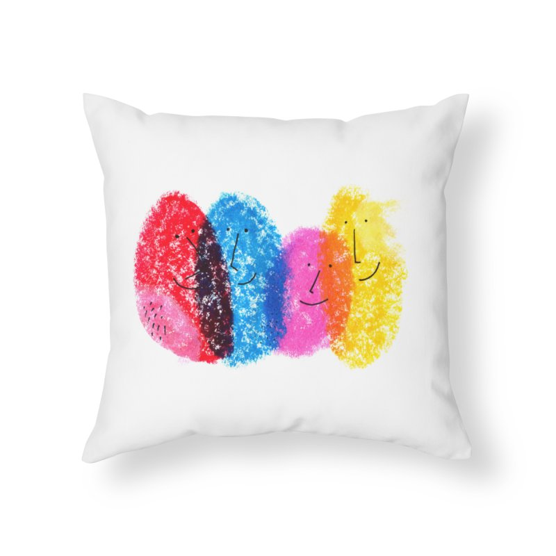 Mixing colors by Elena Losada Home Throw Pillow by ElenaLosada Artist Shop