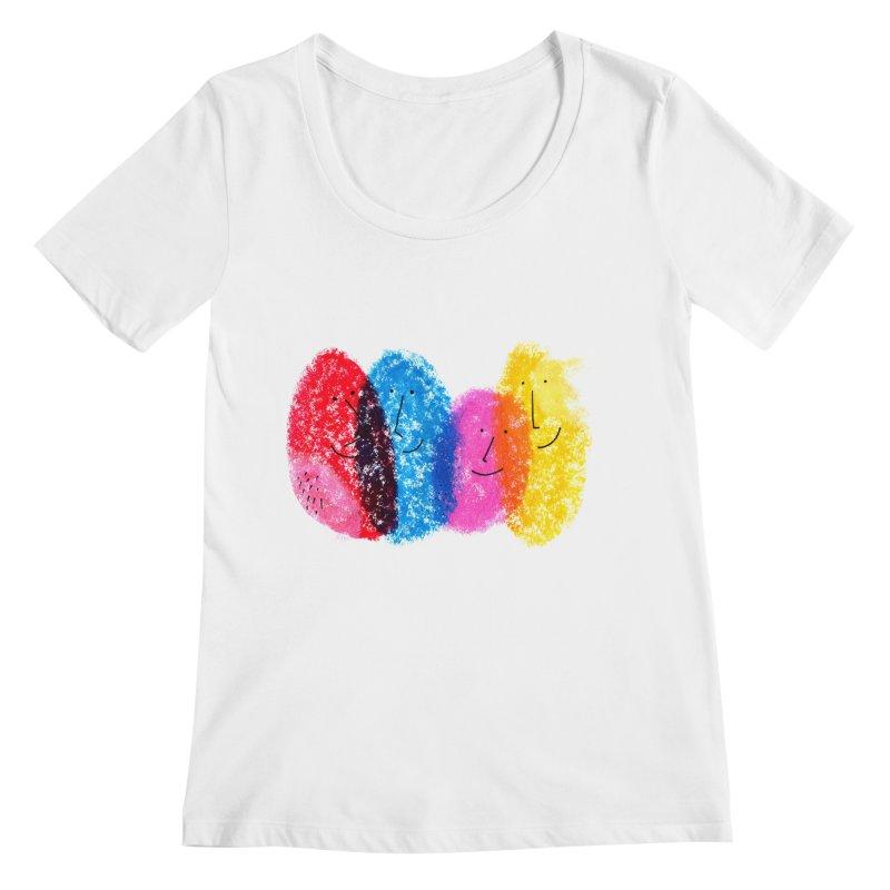 Mixing colors by Elena Losada Women's Regular Scoop Neck by ElenaLosada Artist Shop