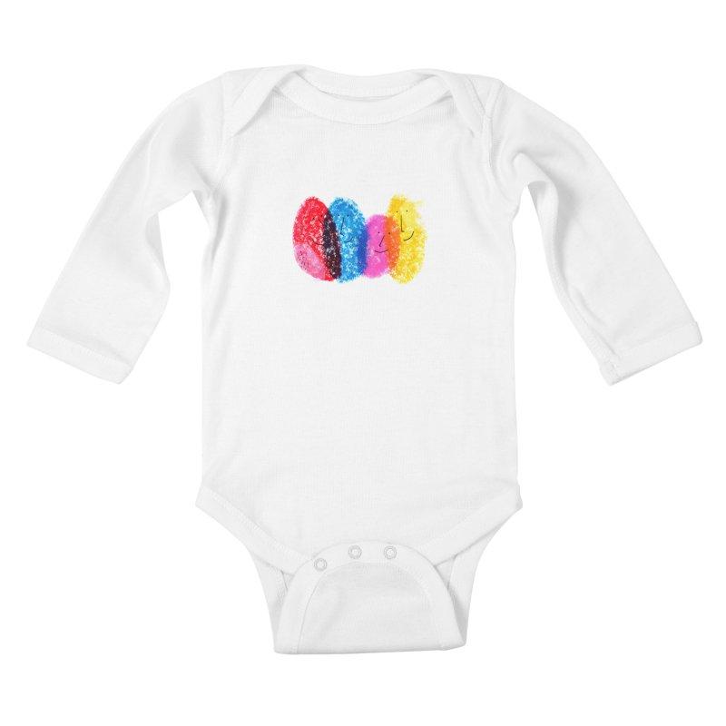 Mixing colors by Elena Losada Kids Baby Longsleeve Bodysuit by ElenaLosada Artist Shop