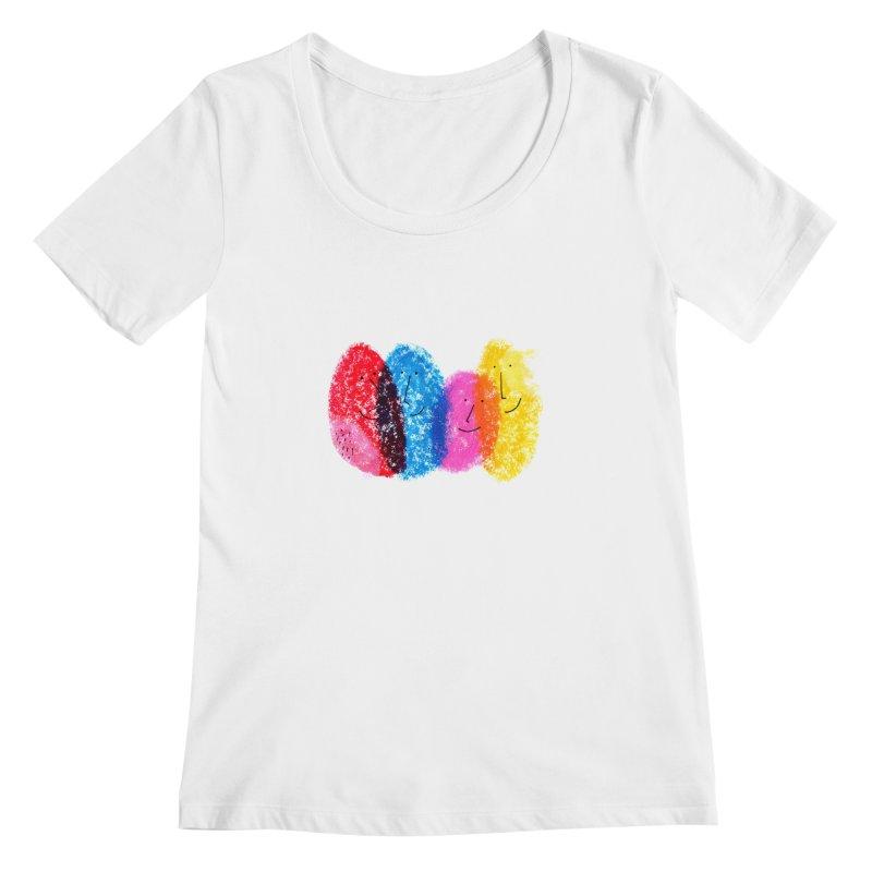 Mixing colors by Elena Losada Women's Scoopneck by elenalosadaShop's Artist Shop