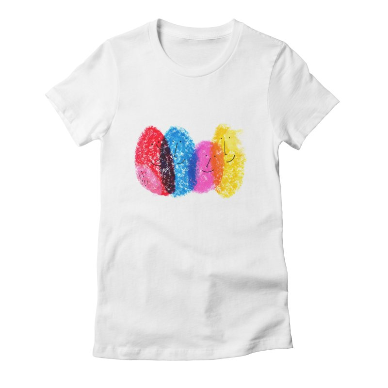 Mixing colors by Elena Losada Women's Fitted T-Shirt by ElenaLosada Artist Shop