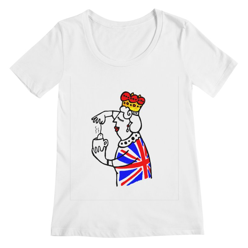 English Tea Women's Regular Scoop Neck by ElenaLosada Artist Shop