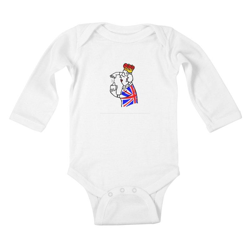 English Tea Kids Baby Longsleeve Bodysuit by ElenaLosada Artist Shop