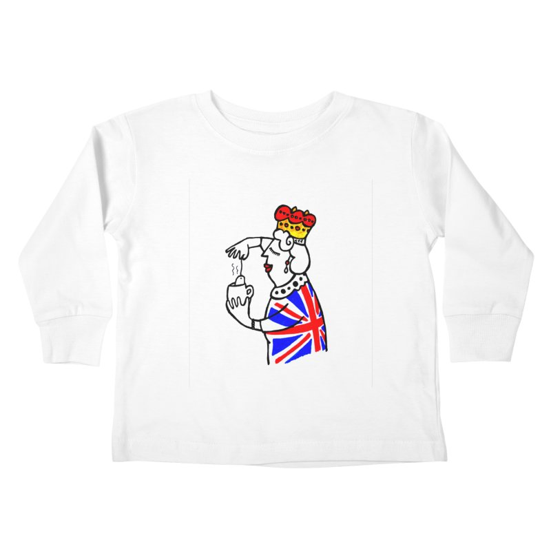 English Tea Kids Toddler Longsleeve T-Shirt by ElenaLosada Artist Shop