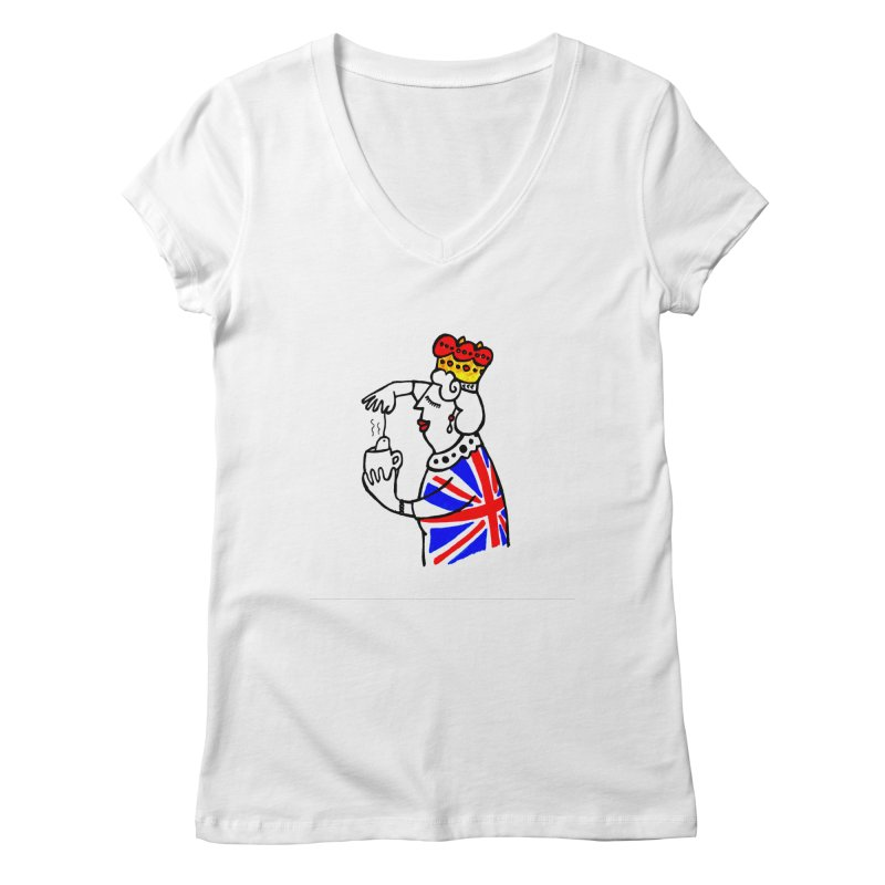 English Tea Women's V-Neck by elenalosadaShop's Artist Shop