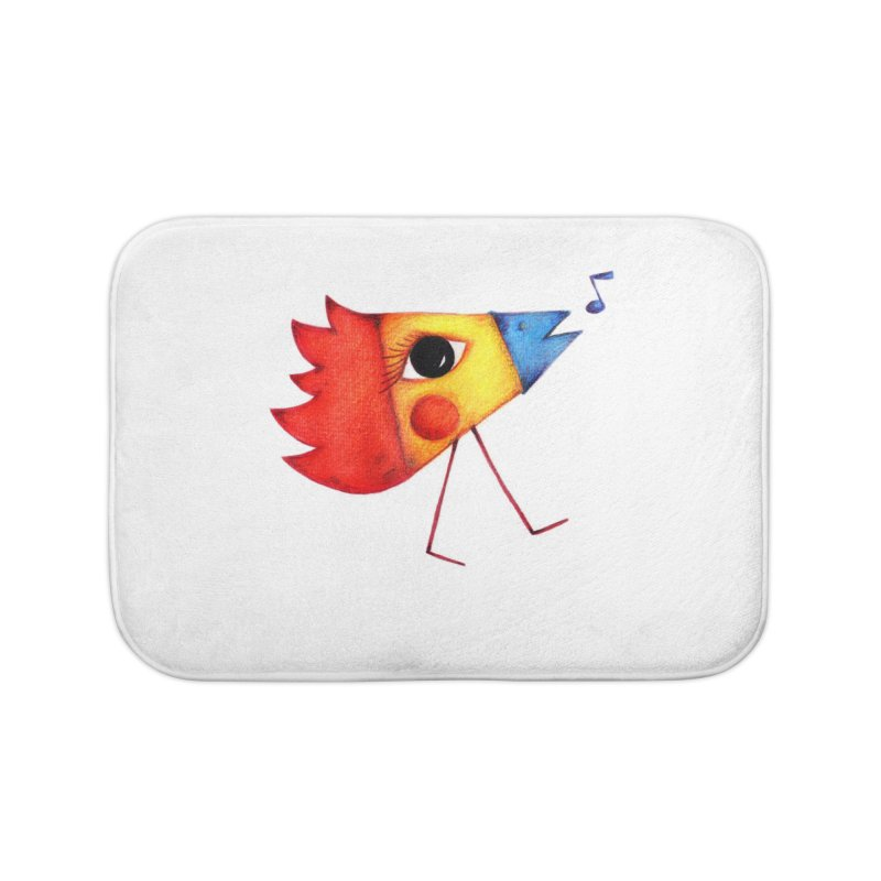 Patopollo Home Bath Mat by ElenaLosada Artist Shop