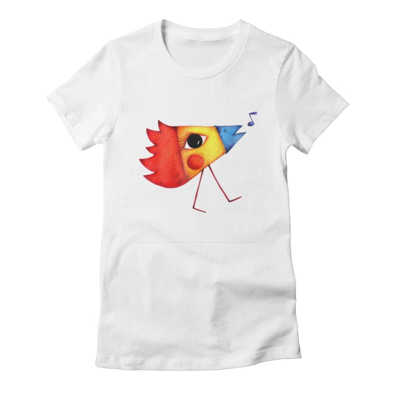 Patopollo Women's Fitted T-Shirt by elenalosadaShop's Artist Shop