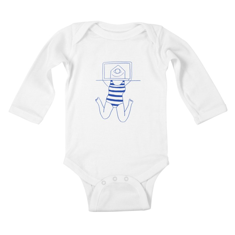 Working on Summer by Elena Losada Kids Baby Longsleeve Bodysuit by elenalosadaShop's Artist Shop