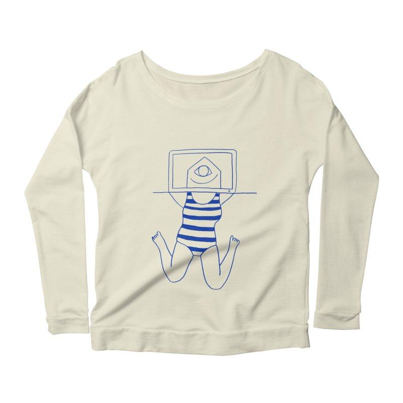 Working on Summer by Elena Losada Women's Scoop Neck Longsleeve T-Shirt by ElenaLosada Artist Shop