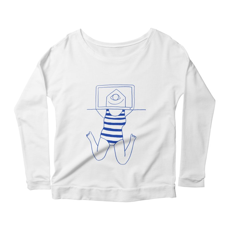 Working on Summer by Elena Losada Women's Longsleeve Scoopneck  by ElenaLosada Artist Shop