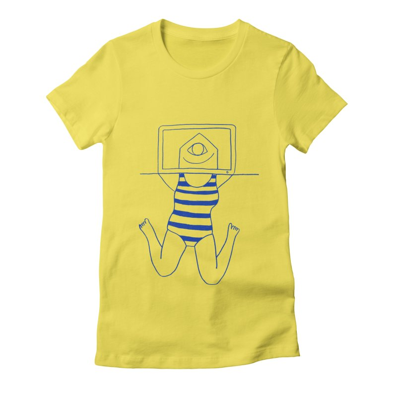 Working on Summer by Elena Losada Women's Fitted T-Shirt by elenalosadaShop's Artist Shop