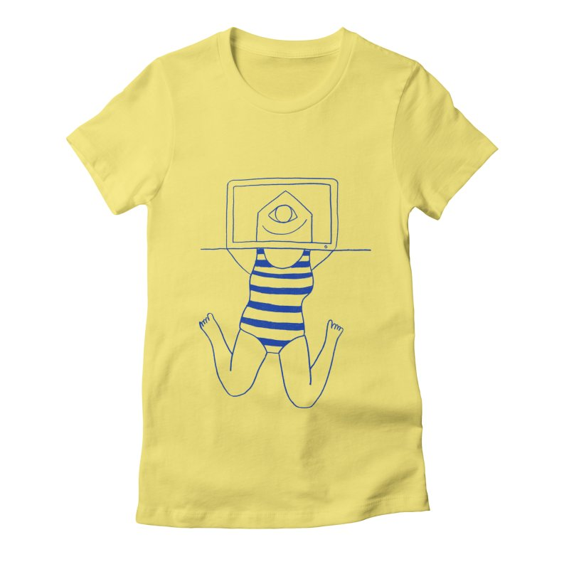 Working on Summer by Elena Losada Women's Fitted T-Shirt by ElenaLosada Artist Shop