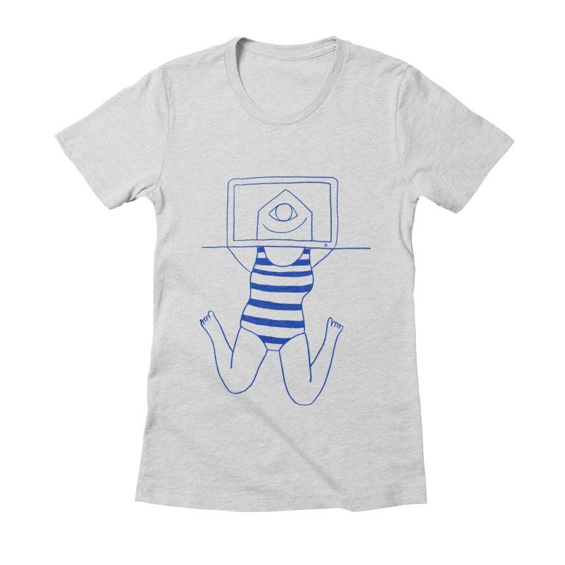 Working on Summer by Elena Losada Women's Fitted T-Shirt by elenalosadaShop's Artist Shop