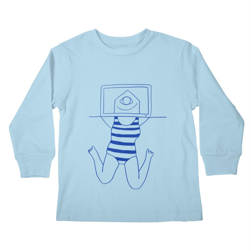 Working on Summer by Elena Losada Kids Longsleeve T-Shirt by ElenaLosada Artist Shop