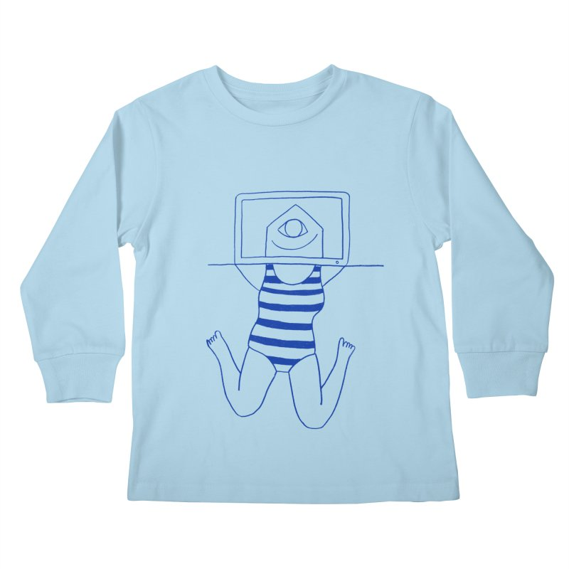 Working on Summer by Elena Losada Kids Longsleeve T-Shirt by elenalosadaShop's Artist Shop