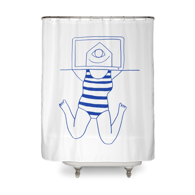 Working on Summer by Elena Losada Home Shower Curtain by ElenaLosada Artist Shop