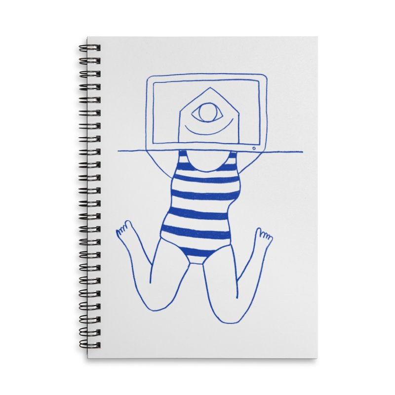 Working on Summer by Elena Losada Accessories Lined Spiral Notebook by ElenaLosada Artist Shop