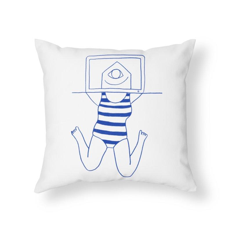 Working on Summer by Elena Losada Home Throw Pillow by elenalosadaShop's Artist Shop