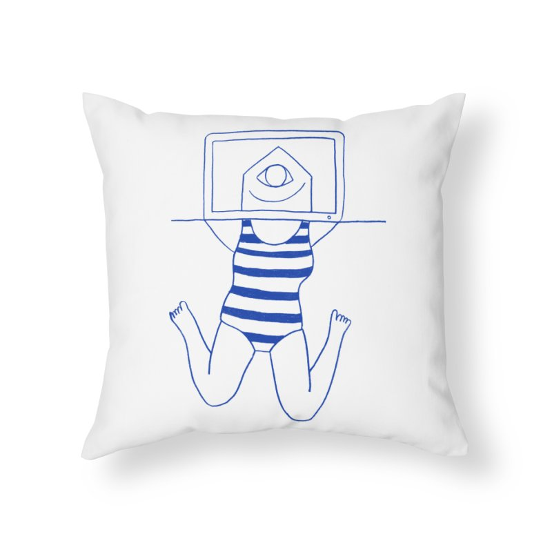Working on Summer by Elena Losada Home Throw Pillow by ElenaLosada Artist Shop