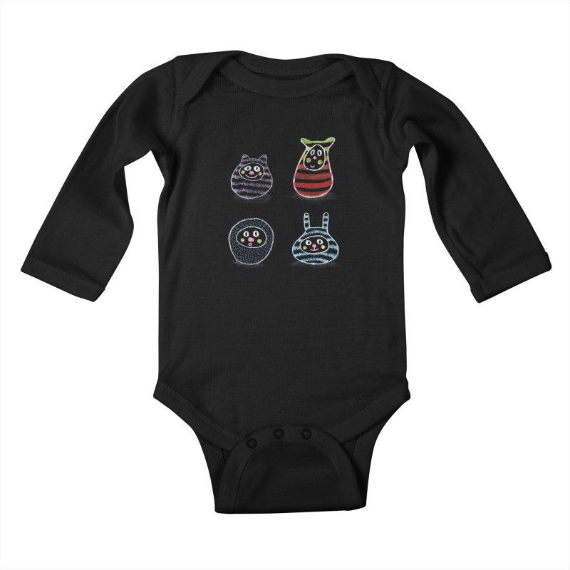 SushiFaces by Elena Losada Kids Baby Longsleeve Bodysuit by ElenaLosada Artist Shop
