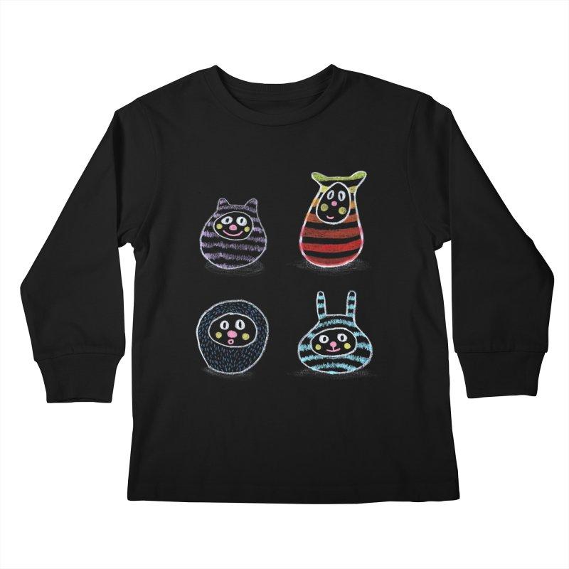 SushiFaces by Elena Losada Kids Longsleeve T-Shirt by ElenaLosada Artist Shop