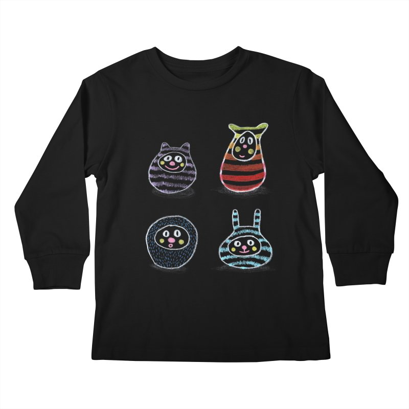 SushiFaces by Elena Losada Kids Longsleeve T-Shirt by elenalosadaShop's Artist Shop