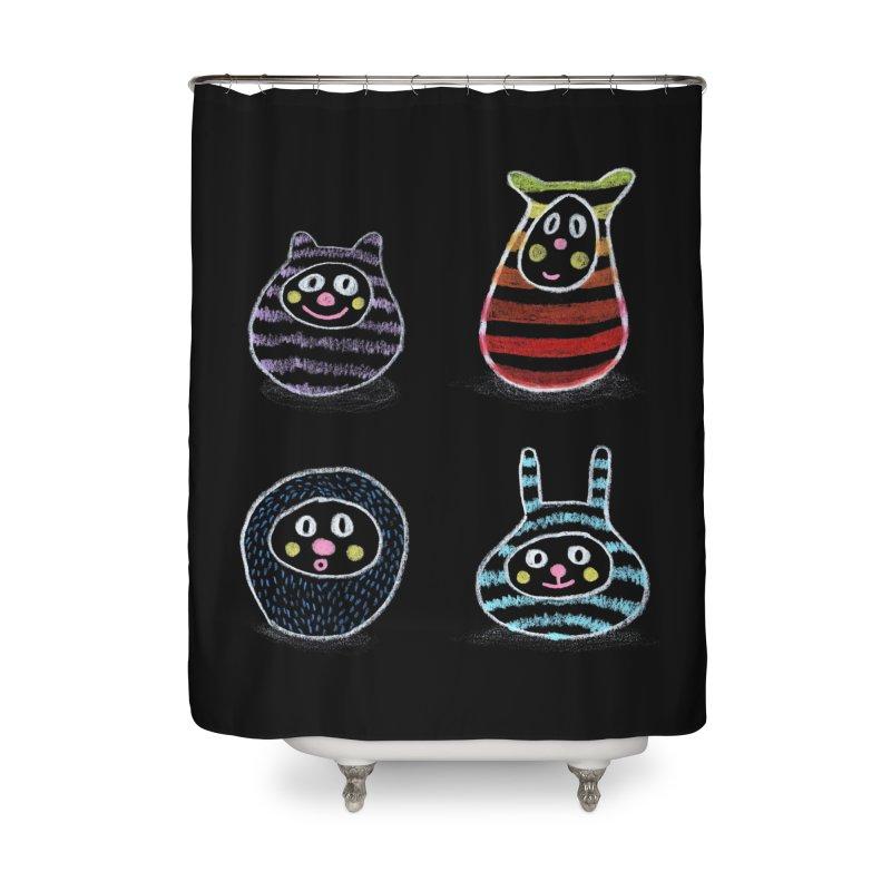 SushiFaces by Elena Losada Home Shower Curtain by ElenaLosada Artist Shop