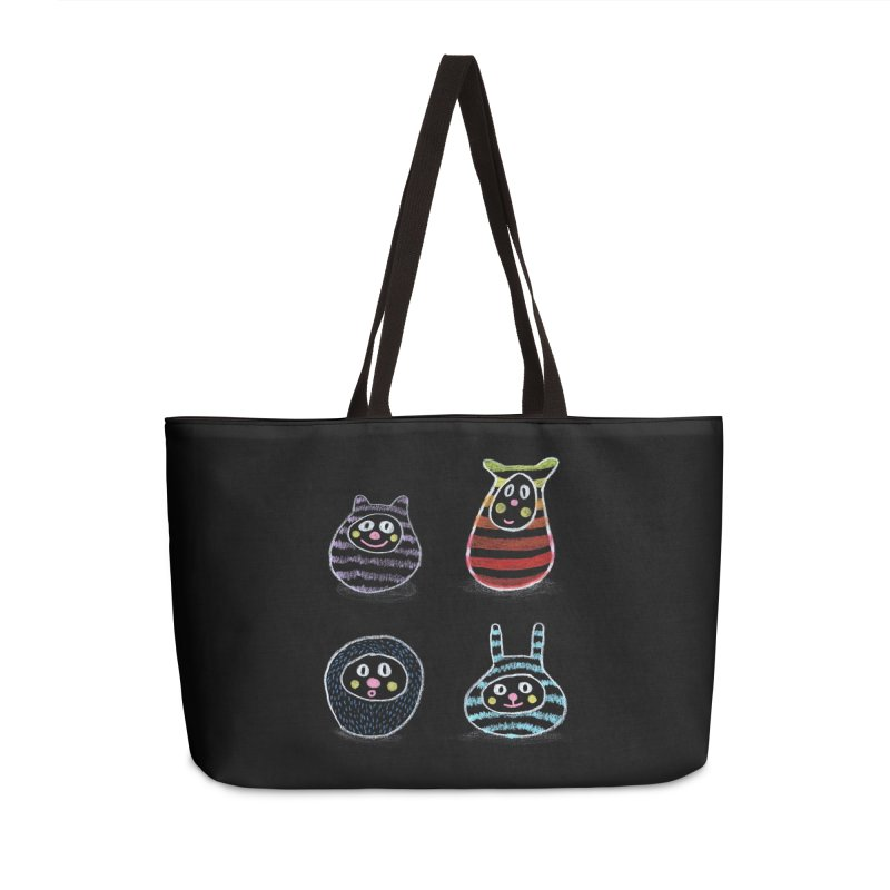 SushiFaces by Elena Losada Accessories Weekender Bag Bag by ElenaLosada Artist Shop