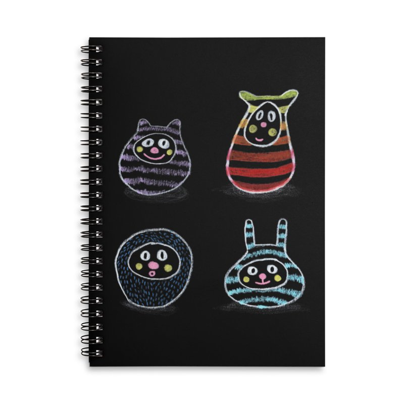 SushiFaces by Elena Losada Accessories Lined Spiral Notebook by ElenaLosada Artist Shop