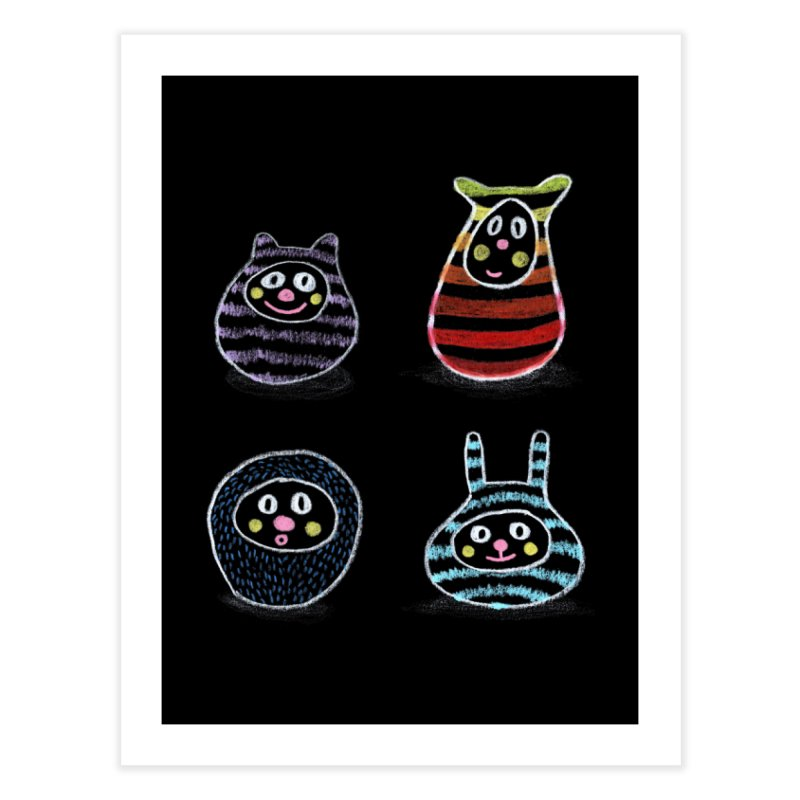 SushiFaces by Elena Losada Home Fine Art Print by elenalosadaShop's Artist Shop