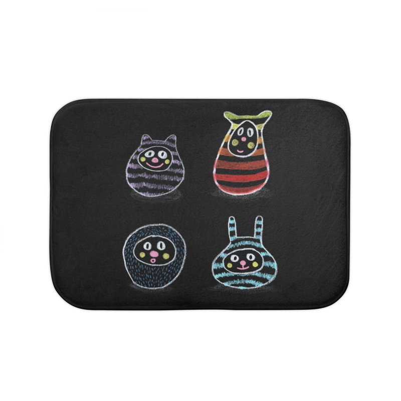 SushiFaces by Elena Losada Home Bath Mat by ElenaLosada Artist Shop