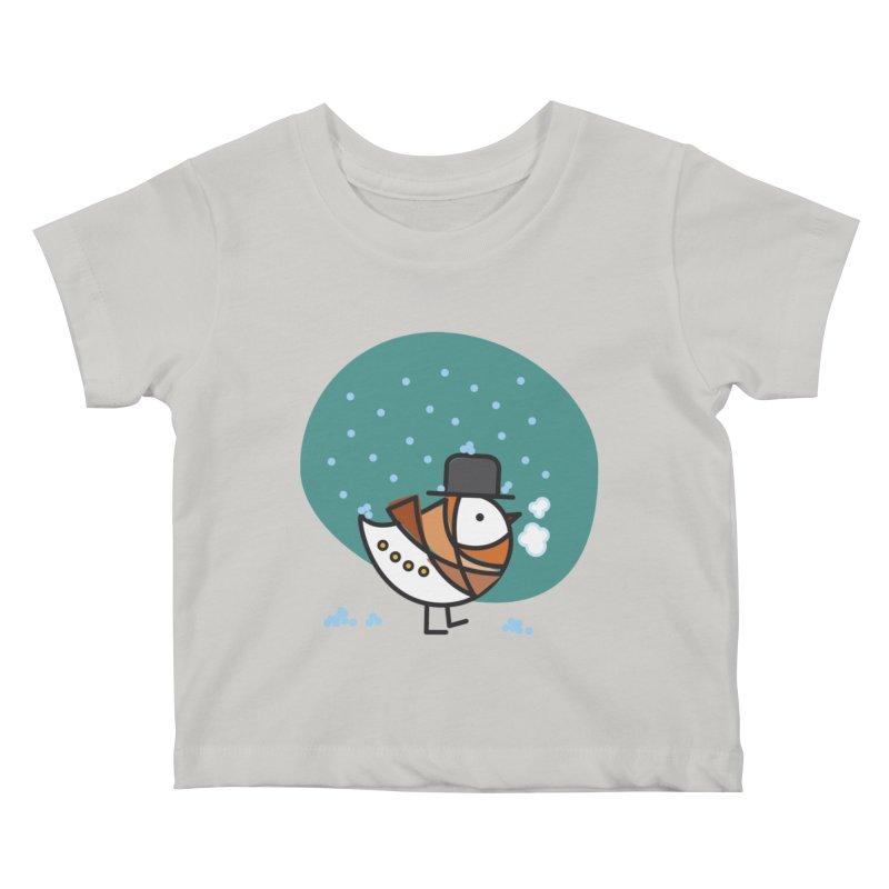It's Snowing! It's Snowing! Kids Baby T-Shirt by ElenaLosada Artist Shop